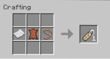 Name Tag Crafting Recipe Minecraft Data Pack