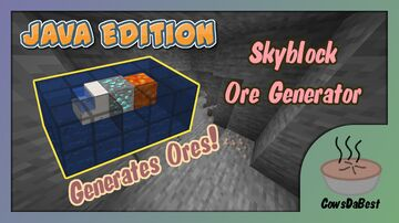 Skyblock Ore Generator In Vanilla Minecraft! [1.13-1.16] Minecraft Data Pack