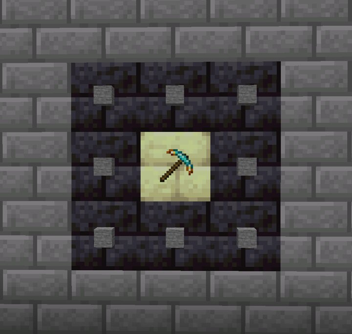 The second weapon, the excavator, boosts your damage when you mine stone