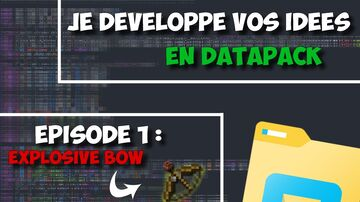 Arc Explosif       Explosive Bow         MINECRAFT DATAPACK  1.14 >> 1.16   Minecraft Data Pack
