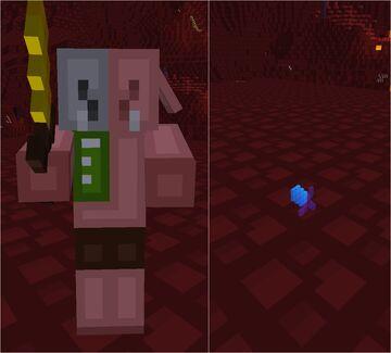 Minecraft, but Zombified Piglins drop OP Loot! Minecraft Data Pack