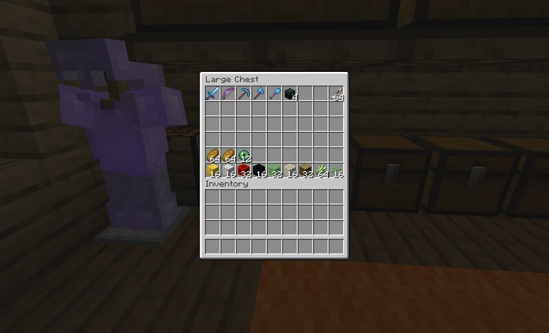 Tools, Armor and Materials always the same on all houses