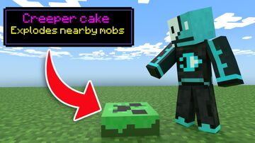 Minecraft but there are Custom Cakes Minecraft Data Pack