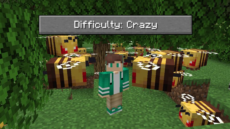 Crazy Difficulty in Minecraft