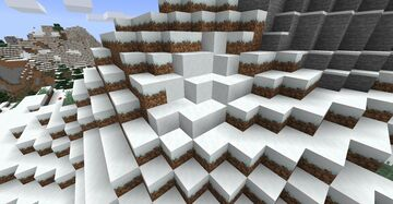 Powdered Snow Generating in 1.17 Mountains Minecraft Data Pack