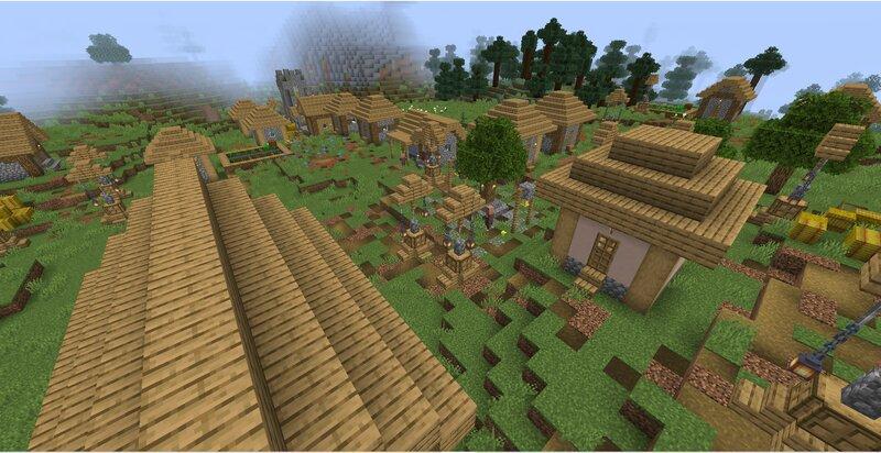 Another plains village.