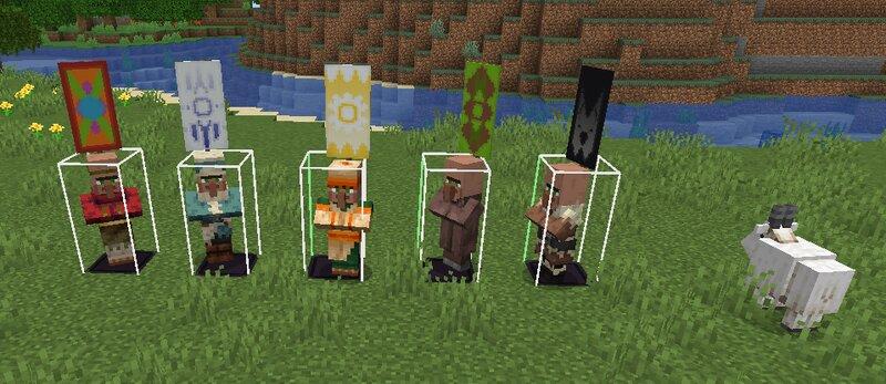 All villager banner patterns. I'll post the banner links in description since I didn't make them.