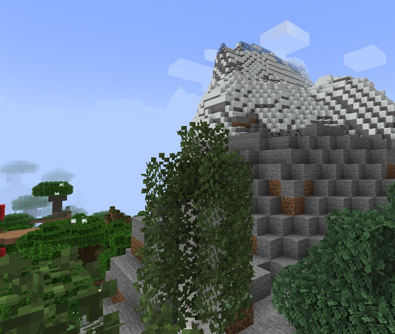 Notice the birch tree and dark forest in the distance. I updated those too. Mountains still in progress.