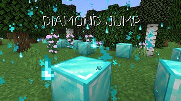 Every time you jump, a diamond block appears Minecraft Data Pack