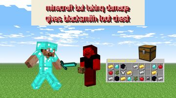 Minecraft But Taking Damage Gives Blacksmith Loot Chest Minecraft Data Pack