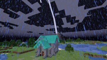 Minecraft but eating summons lightning Minecraft Data Pack
