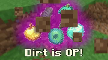 Minecraft but dirt, stone, sand and grass block are OP Minecraft Data Pack