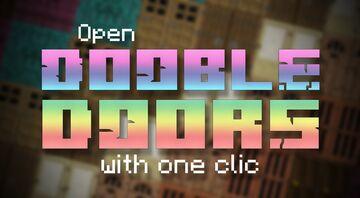 Double Doors Opener Minecraft Data Pack
