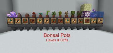 Bonsai Pots Minecraft Data Pack