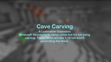 Cave Carving - Simulated 1.18 Caves data pack - Lushnabler Extension Minecraft Data Pack