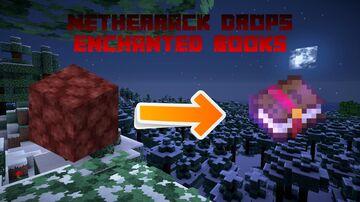 Netherrack Drops Level X Enchanted Books! Minecraft Data Pack