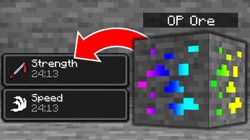 Minecraft, But Ores Make Me OP... Minecraft Data Pack