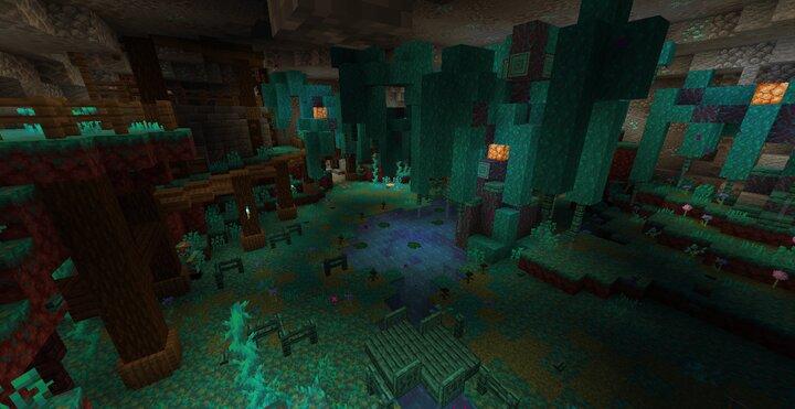 Warped cave