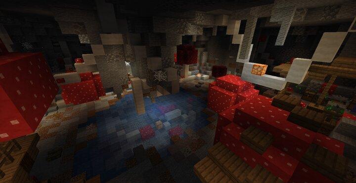 Mushroomed cave