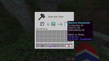 keep ypur enchants on armour from iron to diamond armour Minecraft Data Pack