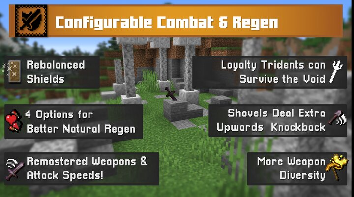 A ton more options to customize and rebalance combat to your liking, improvements for both PVE and PVP.