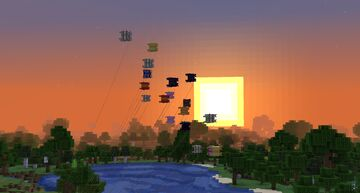 Cube Kites (no resource pack required!) Minecraft Data Pack