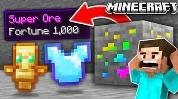 Ore Drop OP Items Minecraft Data Pack