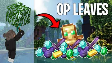 Minecraft but tree leaves drop OP loot! Minecraft Data Pack
