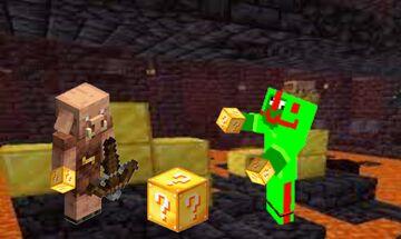 Piglins trade lucky blocks Minecraft Data Pack