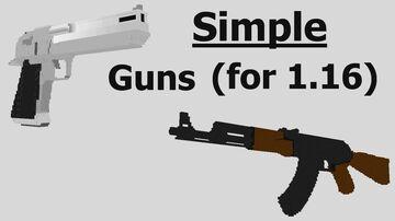 Simple Guns Datapack v2.0 for 1.16 - 1.17 Minecraft Data Pack