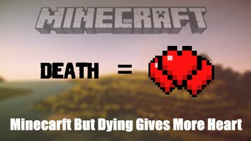 Minecraft But Dying Gives More Hearts Minecraft Data Pack