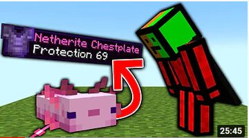 Minecraft, But Axolotls Extremely Drop OP Items... Minecraft Data Pack