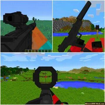 guns in minecraft!!! only works in (minecraft bedrock edition) Minecraft Data Pack