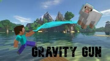 You are a gravity gun Minecraft Data Pack