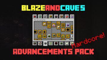 BlazeandCave's Advancements Pack Hardcore version Minecraft Data Pack
