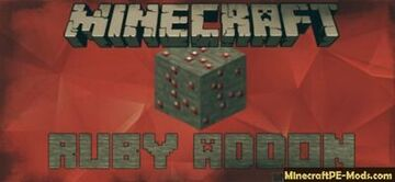 ruby ore in minecraft (only works in minecraft bedrock edition) Minecraft Mod