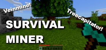 Survival Miner V2 Bedrock 1.16.100+ Addon [Realms Support] Minecraft Data Pack