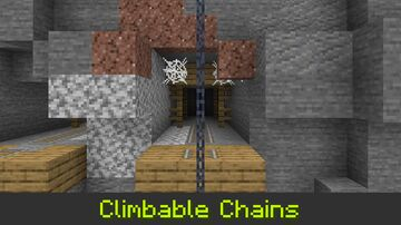 Climbable Chains Minecraft Data Pack