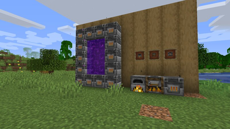 Lit furnaces and cursed nether portal