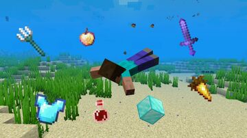 Swimming Gives You OP Loot Minecraft Data Pack