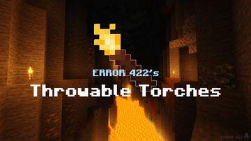 ERROR 422's Throwable Torches Minecraft Data Pack