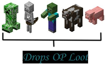 Minecraft but, Cow, Pig, Skeleton, Zombie & Creeper are OP... Minecraft Data Pack