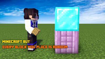 MINECRAFT BUT EVERY BLOCK YOU PLACE TURNS RANDOM -- BITTU5134 Minecraft Data Pack