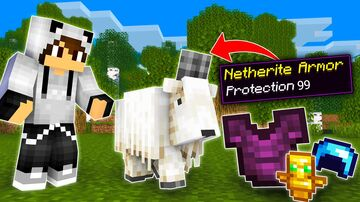 Minecraft But Goat Drops Extremely OP Items Minecraft Data Pack
