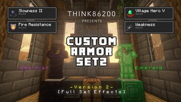 Custom Armor Setz 1.17+ Version: 2 (Data/Resource Pack) REMASTERED!!! (Optifine Required) Minecraft Data Pack