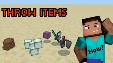 Minecraft But Dropping Items Gives Random Loot! Minecraft Data Pack