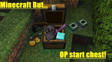 Minecraft But... OP start chest! Minecraft Data Pack