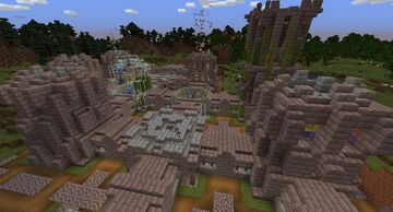 Castle Expansion for New in Town Datapack Minecraft Data Pack