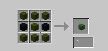 Craftable zombie heads! Minecraft Data Pack