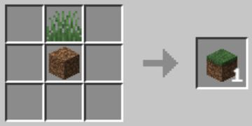 [1.17] Easy Grass Block Crafting Recipe by TAMOA_GAMING Minecraft Data Pack